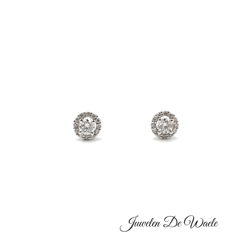 Diamant briljant oorringen